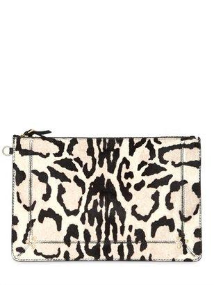 Jerome Dreyfuss Popoche Zebra Print Pony Pouch