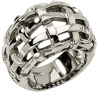 Steel By Design Stainless Steel Basket Woven Ring