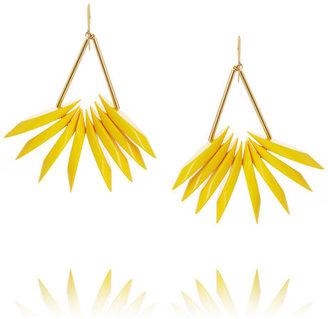 Marni Gold-tone resin earrings