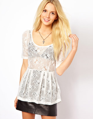 Only Sammy 3/4 Length Sleeved Lace Top