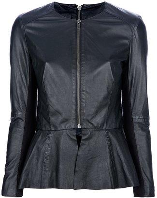 Muu Baa Muubaa Peplum leather jacket