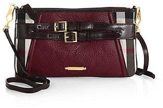 Burberry Peyton Slim Mixed-Media Shoulder Bag