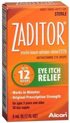 Zaditor Antihistamine Eye Drops $15.49 thestylecure.com