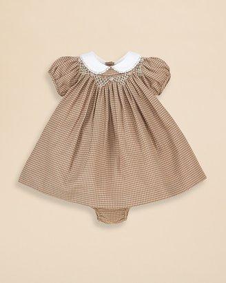 Ralph Lauren Infant Girls' Smocked Tweed Dress - Sizes 3-9 Months