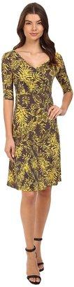 Christin Michaels Tea Length 3/4 Sleeve Wrap Dress $68 thestylecure.com