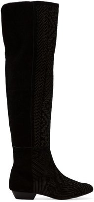 Twelfth St. By Cynthia Vincent By Cynthia Vincent Daire Over-The-Knee Etched Suede Boot