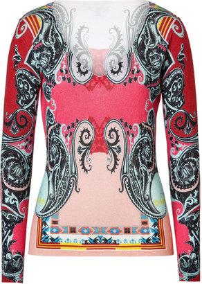 Etro Silk-Cashmere V-Neck Pullover