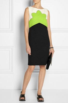 Carven Color-block tweed dress