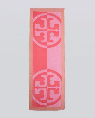 Tory Burch Reva Printed Scarf, Pink