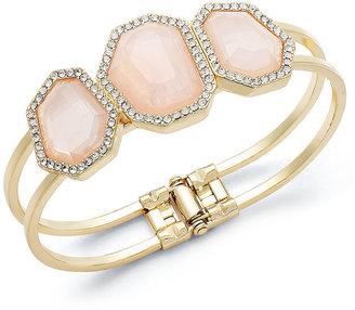 Charter Club Bracelet, Gold-Tone Milky Pink Cuff Bracelet