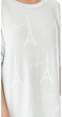 Wildfox Couture Paris Je T'aime Tunic Top