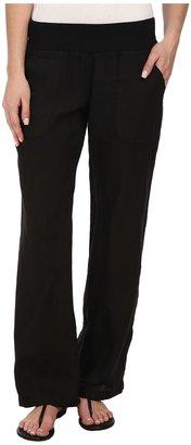 Allen Allen - Linen Long Pant Women's Casual Pants $88 thestylecure.com
