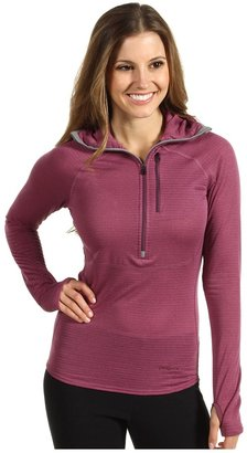 Patagonia Capilene 4 Expedition Weight 1/4-Zip Hoodie (Rubellite Pink/Light Balsamic Crossdye) - Apparel