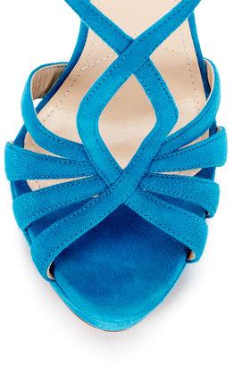 Prada Suede Strappy Platform Sandal