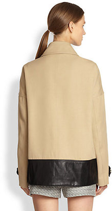 Jason Wu Leather-Trimmed Cotton Coat