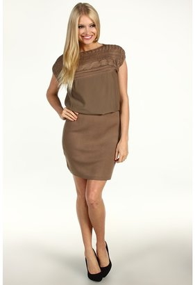 Vince Camuto Cap Sleeve Knit Dress VC2A1511 (Tan) - Apparel