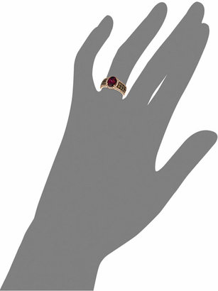 LeVian Le Vian® Raspberry Rhodolite® Garnet (1-7/8 ct. Chocolate Diamond (3/4 ct. t.w.) and White Diamond (3/8 ct. t.w.) Oval in 14k Rose Gold