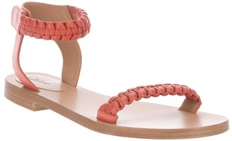 Chloé braided strap sandal