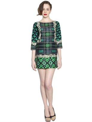 Emma Cook Printed Stretch Satin Dress