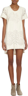 Sea Lace Front Short Sleeve Shift