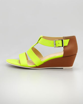 Nanette Lepore Absolute Wonder Wedge Sandal, Yellow