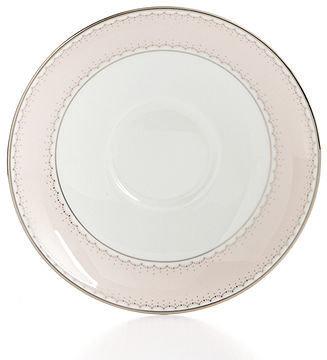 Monique Lhuillier Waterford Dinnerware, Dentelle Blush Saucer