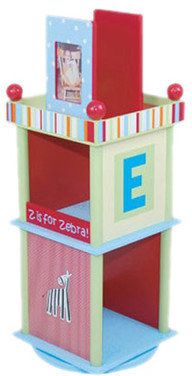 """Levels of Discovery Alphabet Soup Revolving 33.5"""" Bookcase"""