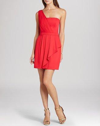 BCBGMAXAZRIA Dress - Vanessa One Shoulder Cascade Ruffle