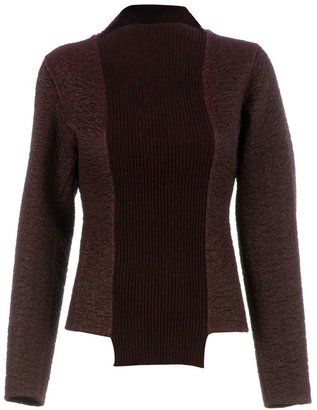 Yang Li contrast panel sweater