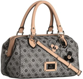GUESS Persuasion Small Box Satchel (Black) - Bags and Luggage
