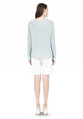 Alexander Wang Cotton Merino Blend Stripe Pullover