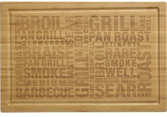 Crate & Barrel Bamboo Barbecue Cutting-Serving Board