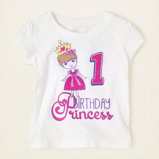 Children's Place First birthday cupcake graphic tee