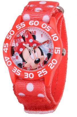 Disney Kids Minnie Mouse Easy-Read Polka Dot Strap Watch