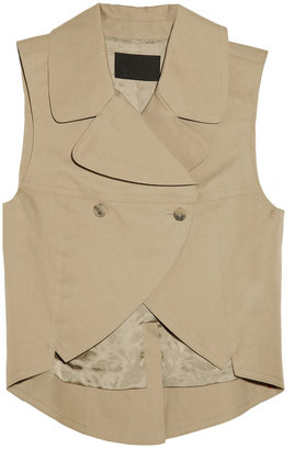 Alexander Wang Cutout-away cotton-blend vest