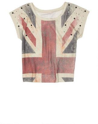 Delia's Union Jack Sublimated Bling Short-Sleeve
