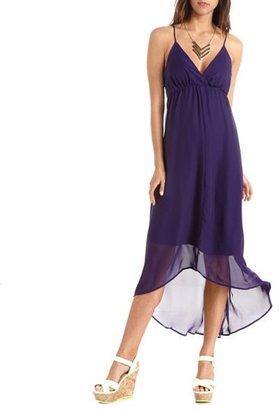 Charlotte Russe Crisscross Back Surplice Maxi Dress