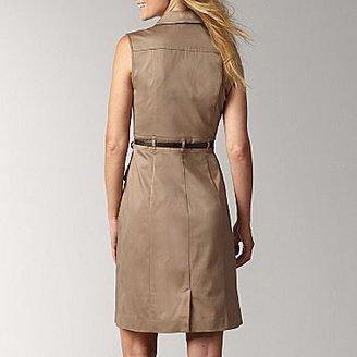 Liz Claiborne Safari Khaki Belted Dress