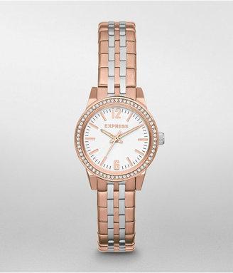 Express Analog Bracelet Watch - Rose And Silver