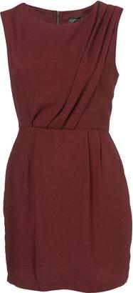 Topshop Petite Tuck Shift Dress