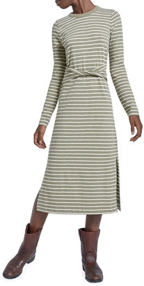 Current/Elliott The Studio Striped Dress w/ Twisted Waistband