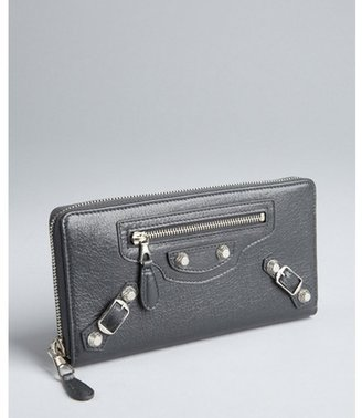 Balenciaga grey lambskin 'Giant Money' flap continental wallet