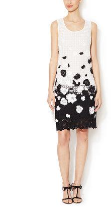 Oscar de la Renta Mosaico Lace Shift Dress