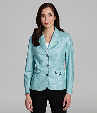 TanJay Notch-Collar Button-Front Jacket
