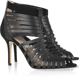 Jimmy Choo Mandy leather cage sandals