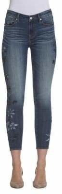 Driftwood Cropped Embroidery Skinny Jeans