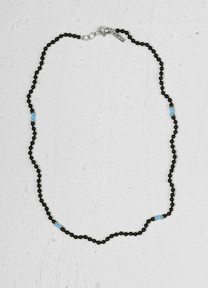 John Varvatos Onyx And Turquoise Beaded Necklace