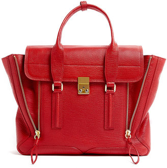 3.1 Phillip Lim Red Leather Pashli Satchel