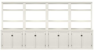 Pottery Barn Logan Wall Suite With Bookcases & Cabinet Doors