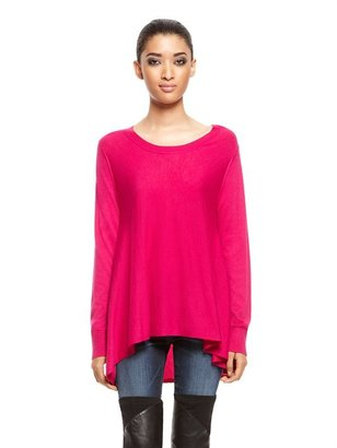 DKNY Flared Long Sleeve Scoopneck Pullover
